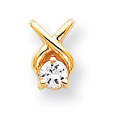 Holds 4mm Stone, Chain Slide Mounting 14k Gold XP687