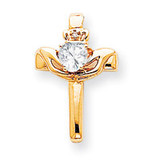 Claddagh Cross Pendant Mounting 14k Gold XP753