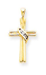 Diamond Cross Pendant 14k Gold XP760AA