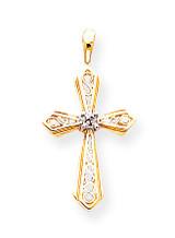Diamond Cross Pendant 14k Gold XP763AA
