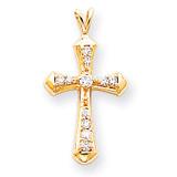 Diamond Cross Pendant 14k Gold XP764AA