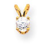Diamond pendant 14k Gold XP7AA