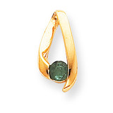 4mm Emerald pendant 14k Gold XP948E