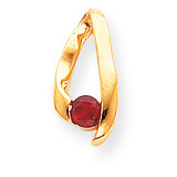 4mm Ruby Pendant 14k Gold XP948R