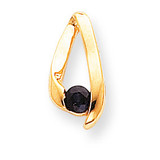 4mm Sapphire pendant 14k Gold XP948S