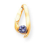4mm Tanzanite pendant 14k Gold XP948T