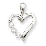 Heart Pendant Mounting 14k White Gold XP965