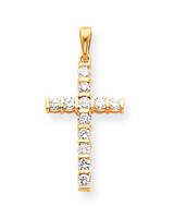 Diamond Latin Cross Pendant 14k Gold XP96AA