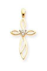 Diamond Cross Pendant 14k Gold XP979AA