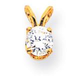 Diamond pendant 14k Gold XP9AA