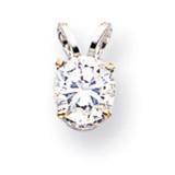 Diamond pendant 14k White Gold XPW10AA
