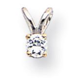 Diamond pendant 14k White Gold XPW4AA