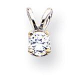 Diamond pendant 14k White Gold XPW5AA