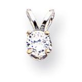 Diamond pendant 14k White Gold XPW6AA