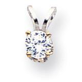 Diamond pendant 14k White Gold XPW7AA