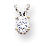 Diamond pendant 14k White Gold XPW8AA