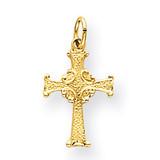 Celtic Cross Charm 14k Gold XR194