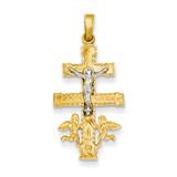 Cara Vaca Crucifix Pendant 14k Two-Tone Gold XR281