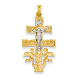 Cara Vaca Crucifix Pendant 14k Two-Tone Gold XR282
