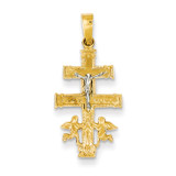 Cara Vaca Crucifix Pendant 14k Two-Tone Gold XR284