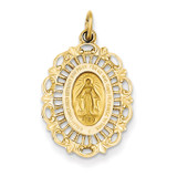 Miraculous Medal Charm 14k Gold XR331