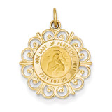 Our Lady of Perpetual Help Medal Charm 14k Gold XR339