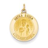 Matka Boska Medal Charm 14k Gold XR344