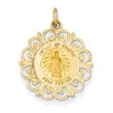 Infant of Prague Medal Charm 14k Gold XR352