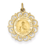 Sacred Heart of Jesus Medal Charm 14k Gold XR370
