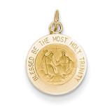 Holy Trinity Medal Charm 14k Gold XR371