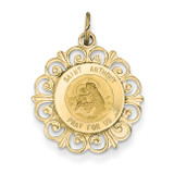 Saint Anthony Medal Charm 14k Gold XR387