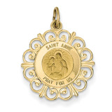 Saint Anne Medal Charm 14k Gold XR395