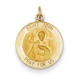Saint John Medal Charm 14k Gold XR399