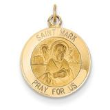 Saint Mark Medal Charm 14k Gold XR400