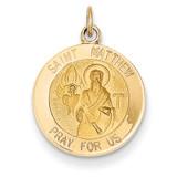 Saint Matthew Medal Charm 14k Gold XR402