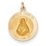 Mother Cabrini Medal Charm 14k Gold XR405