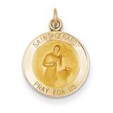 Saint Gerard Medal Charm 14k Gold XR406