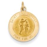 Saint John Baptist Medal Charm 14k Gold XR407