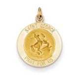 Saint George Medal Charm 14k Gold XR410