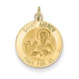 Saint Andrew Medal Charm 14k Gold XR411