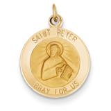 Saint Peter Medal Charm 14k Gold XR412