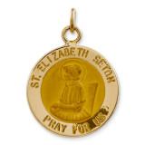 Saint Elizabeth Seton Medal Charm 14k Gold XR413