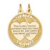 Mizpah Break-apart Charm 14k Gold XR434