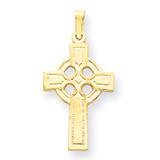 Celtic Cross Charm 14k Gold XR531