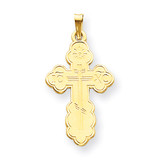 Eastern Orthodox Cross Pendant 14k Gold XR568