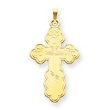 Eastern Orthodox Cross Pendant 14k Gold XR569