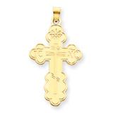 Eastern Orthodox Cross Pendant 14k Gold XR570