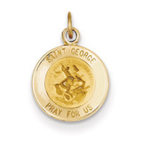 Saint George Medal Charm 14k Gold XR613