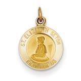 Saint Elizabeth Seton Medal Charm 14k Gold XR617