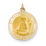 Saint Elizabeth Seton Medal Pendant 14k Gold XR618